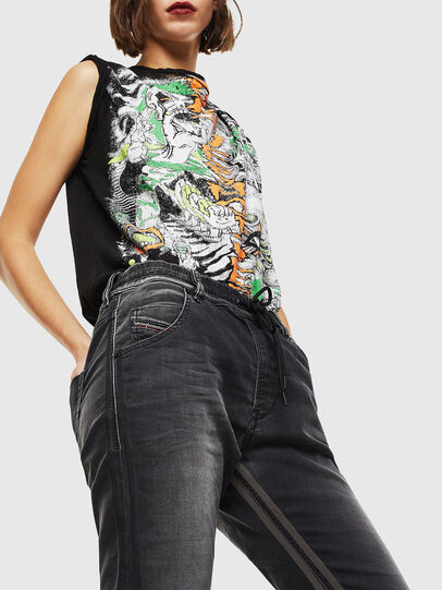 Diesel - Krailey JoggJeans 0094Q, Nero/Grigio scuro - Jeans - Image 4