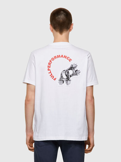 Diesel - T-JUST-B55, Bianco - T-Shirts - Image 2