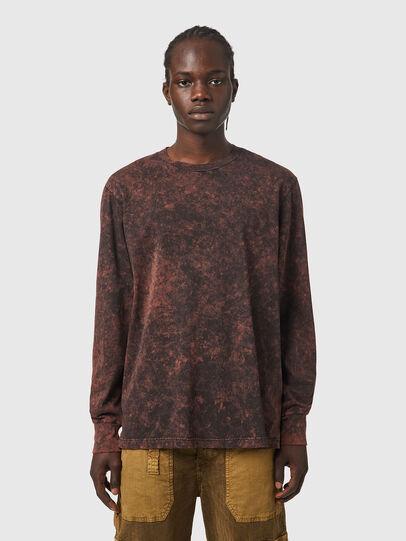 Diesel - T-GLYN, Nero/Marrone - T-Shirts - Image 1