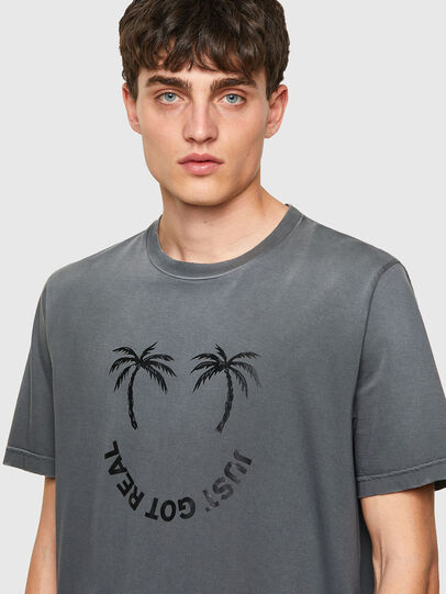 Diesel - T-JUST-B64, Grigio - T-Shirts - Image 3