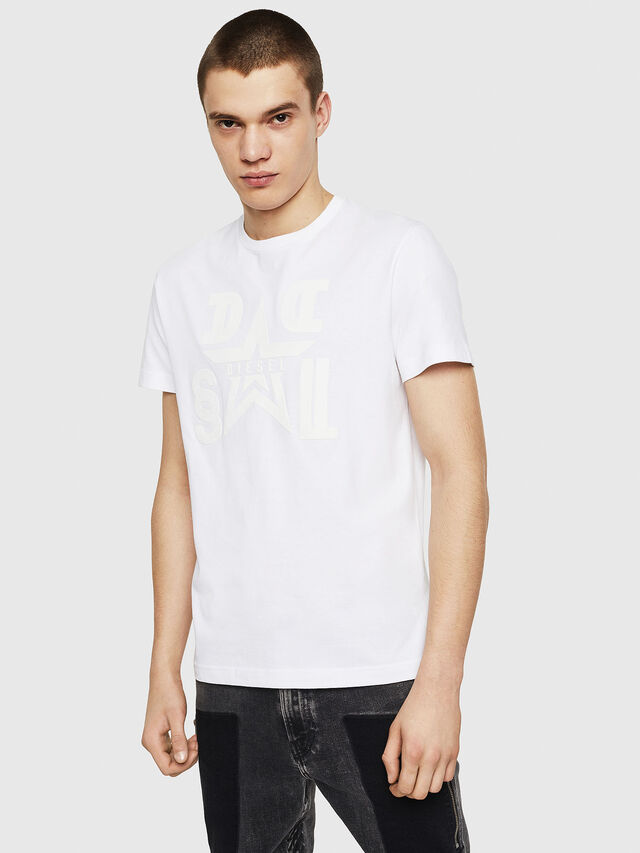 Diesel - T-DIEGO-A8, Bianco - T-Shirts - Image 1