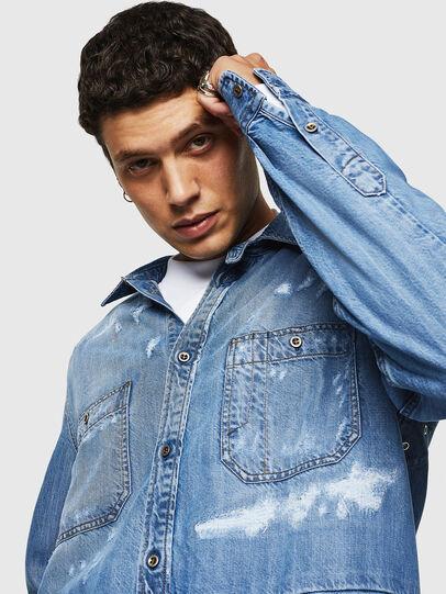 Diesel - D-FRED, Blu Chiaro - Camicie in Denim - Image 3
