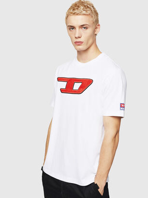 T-JUST-DIVISION-D, Bianco - T-Shirts