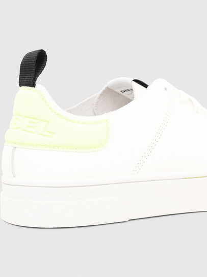 Diesel - S-CLEVER LS, Bianco/Giallo - Sneakers - Image 4