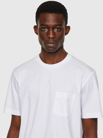 Diesel - T-JUST-WORKY, Bianco - T-Shirts - Image 3