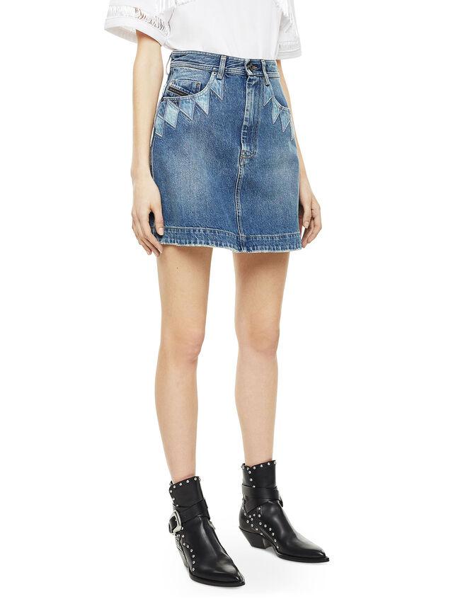 Diesel - OSSANA, Blu Jeans - Gonne - Image 4
