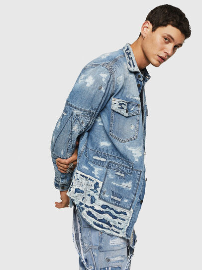 Diesel - D-HISAKY-SY, Blu Jeans - Camicie in Denim - Image 6