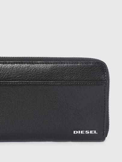 Diesel - 24 ZIPOCKET, Nero/Grigio - Portafogli Con Zip - Image 4