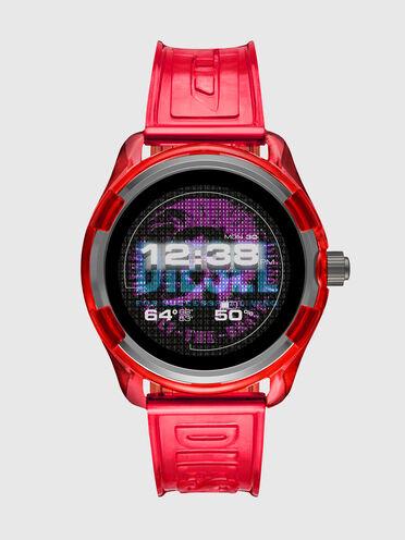 Smartwatch Diesel On Fadelite - Rosso trasparente