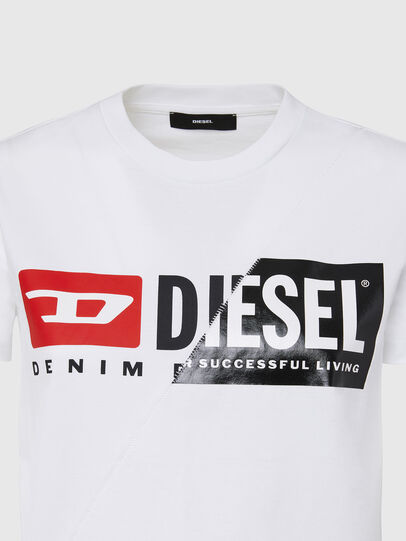 Diesel - T-SILY-CUTY, Bianco - T-Shirts - Image 3