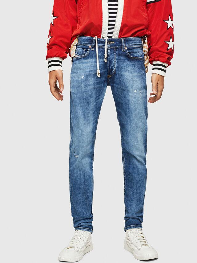 Diesel - Sleenker 069FY, Blu medio - Jeans - Image 1