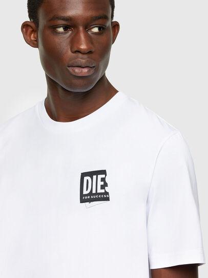 Diesel - T-JUST-LAB, Bianco - T-Shirts - Image 3