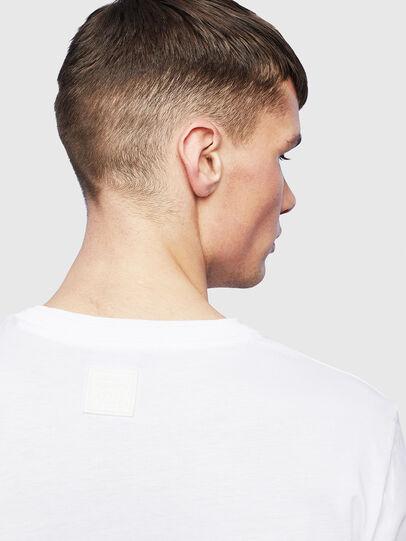 Diesel - T-HUSTY-LS, Bianco - T-Shirts - Image 7