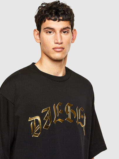 Diesel - T-BALL-A1, Nero - T-Shirts - Image 3