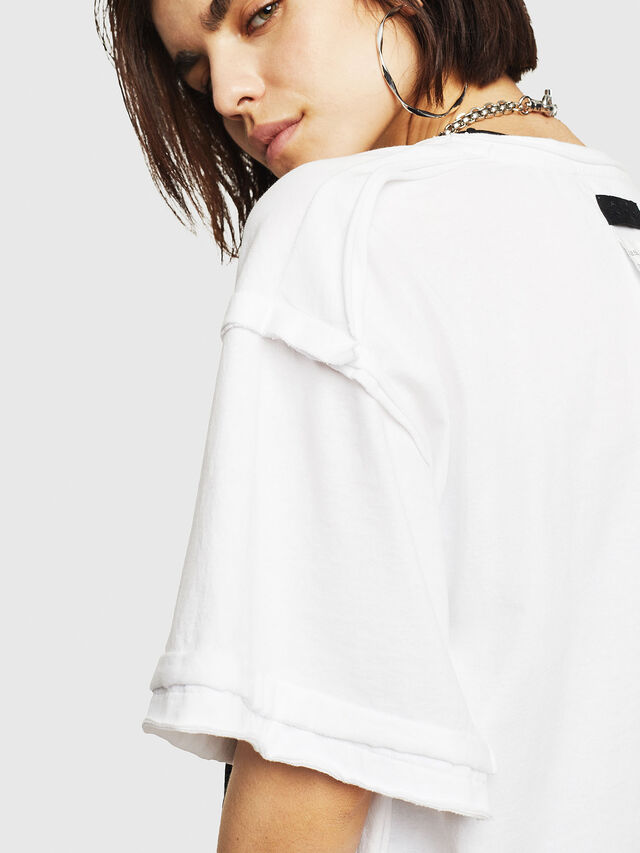 Diesel - T-JACKY-G, Bianco - T-Shirts - Image 3