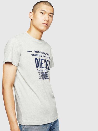 Diesel - T-DIEGO-B6, Grigio Chiaro - T-Shirts - Image 1