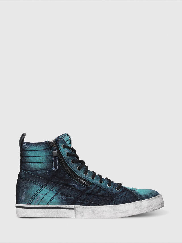 Diesel - D-VELOWS MID LACE, Turchese - Sneakers - Image 1