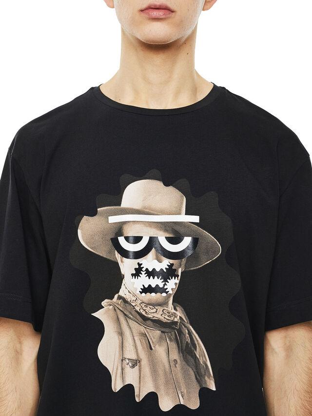 Diesel - TEORIAL-COWBOY, Nero - T-Shirts - Image 3