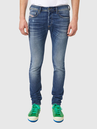Diesel - Sleenker 09A86, Blu Chiaro - Jeans - Image 1