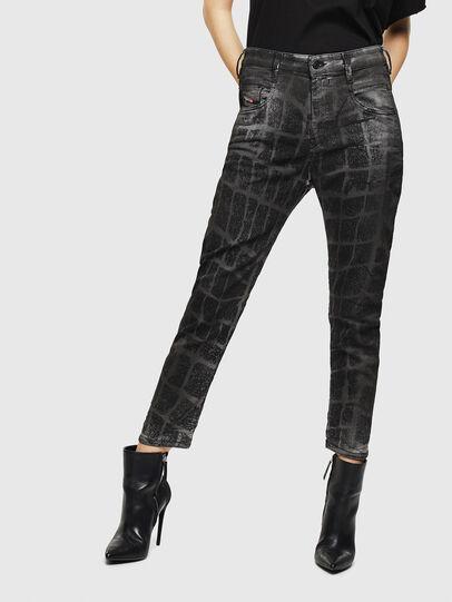 Diesel - Fayza JoggJeans 0094M, Nero/Grigio scuro - Jeans - Image 1