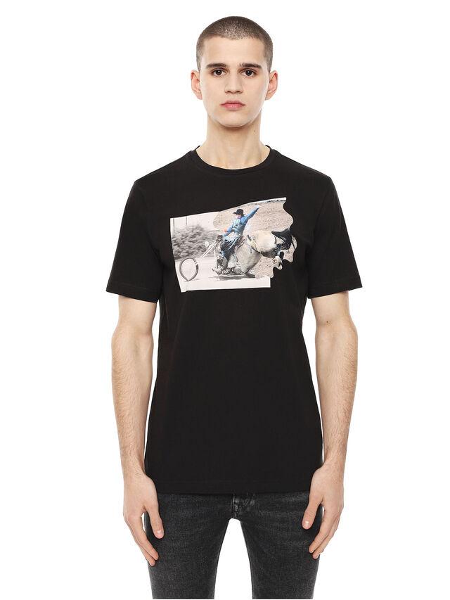 Diesel - TY-CHOPPER, Nero - T-Shirts - Image 1