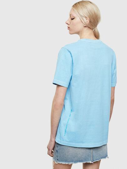 Diesel - T-JUST-NEON-S1, Azzurro - T-Shirts - Image 4