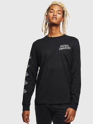T-DIEGO-LS-J1, Nero - T-Shirts