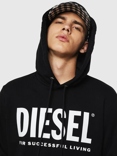 Diesel - S-GIR-HOOD-DIVISION-, Nero - Felpe - Image 3