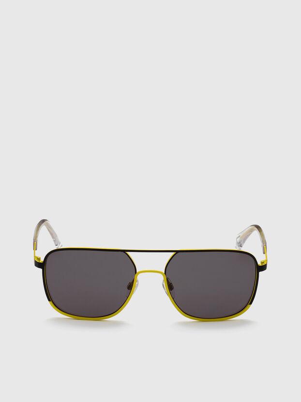 DL0325, Nero/Giallo - Occhiali da sole