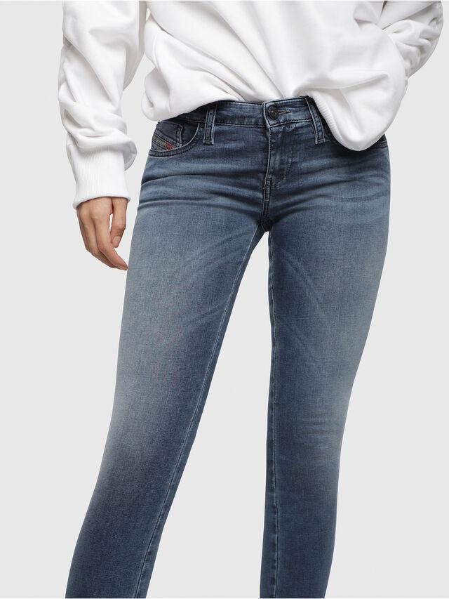Diesel - Skinzee Low Zip 0681P, Blu medio - Jeans - Image 3