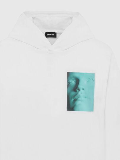 Diesel - T-JUST-LS-HOOD-X30, Bianco - T-Shirts - Image 3