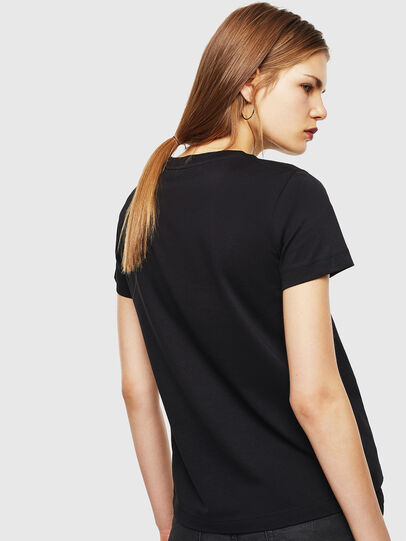 Diesel - T-SILY-COPY, Nero - T-Shirts - Image 2