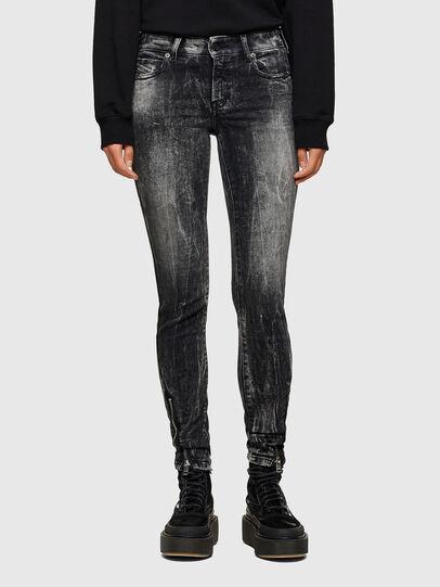 Diesel - D-Jevel 009PX, Nero/Grigio scuro - Jeans - Image 1