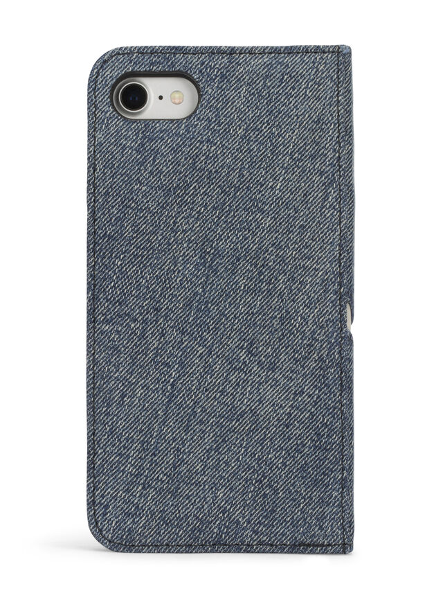 Diesel - DENIM IPHONE 8/7 FOLIO, Blu Jeans - Cover a libro - Image 4