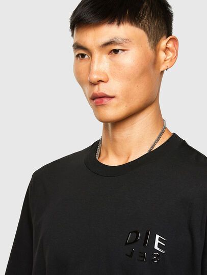 Diesel - T-JUST-SLITS-A30, Nero - T-Shirts - Image 3