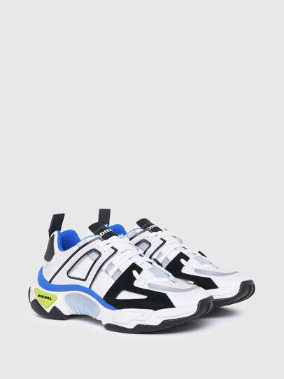 Diesel - S-KIPPER LOW TREK II, Bianco/Nero - Sneakers - Image 2