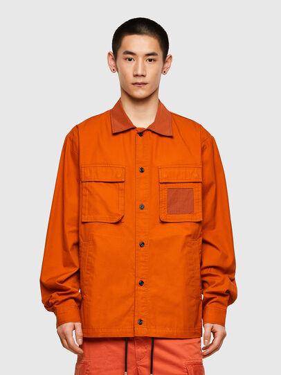 Diesel - S-GUNN-LS, Arancione - Camicie - Image 1