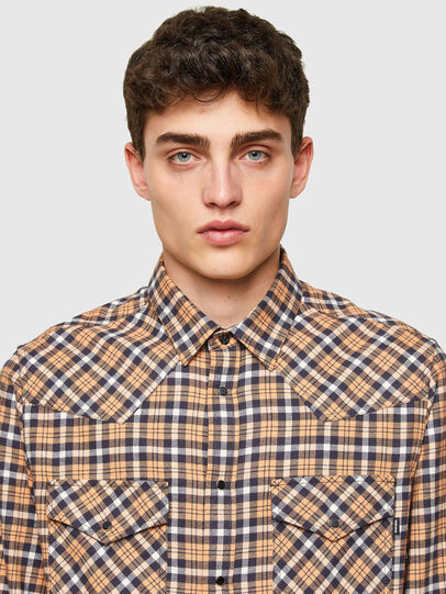 Diesel - S-EAST-LONG-CHK-B, Rosa/Nero - Camicie - Image 3