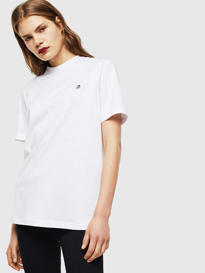 Diesel - T-JUSTY, Bianco - T-Shirts - Image 3