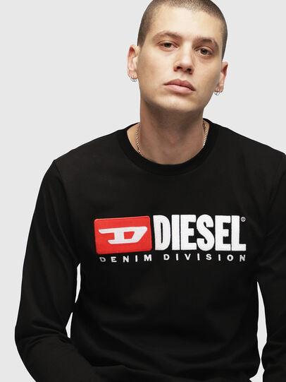 Diesel - T-JUST-LS-DIVISION, Nero - T-Shirts - Image 3