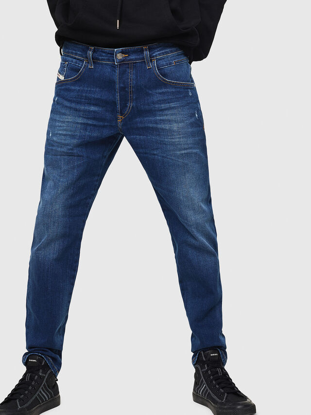 Diesel - D-Bazer 083AZ, Blu medio - Jeans - Image 1