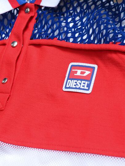 Diesel - TVAITEA, Rosso/Bianco - T-shirts e Tops - Image 3