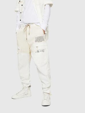 P-LUKK, Bianco - Pantaloni