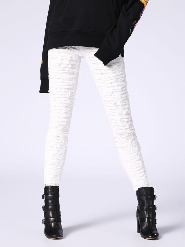 DHARY 084PG, Bianco Jeans