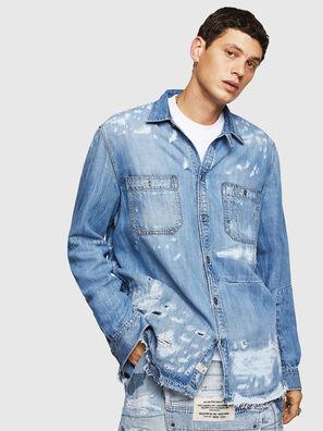 D-FRED, Blu Chiaro - Camicie in Denim