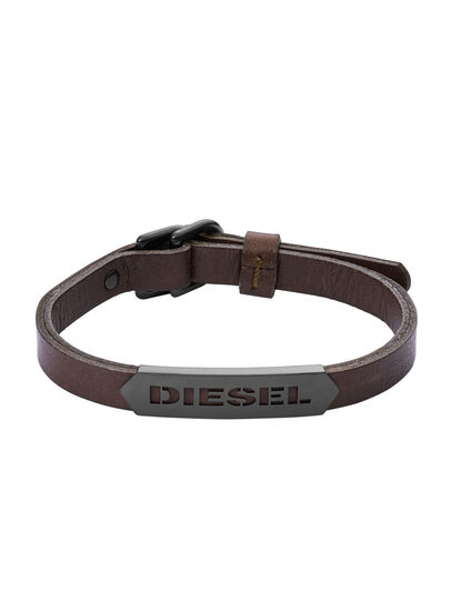 Diesel - BRACELET DX1001, Marrone - Braccialetti - Image 1