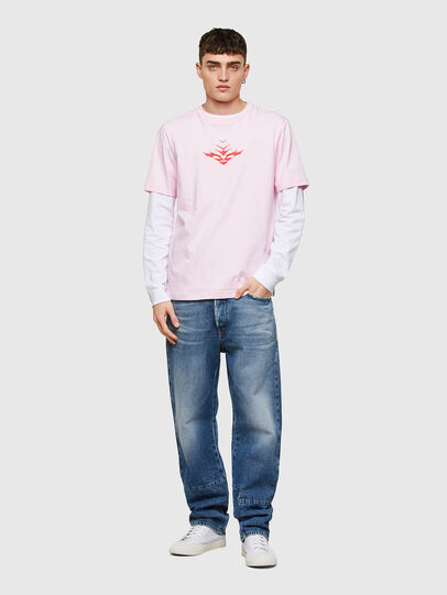 Diesel - T-JUST-E14, Cipria - T-Shirts - Image 4
