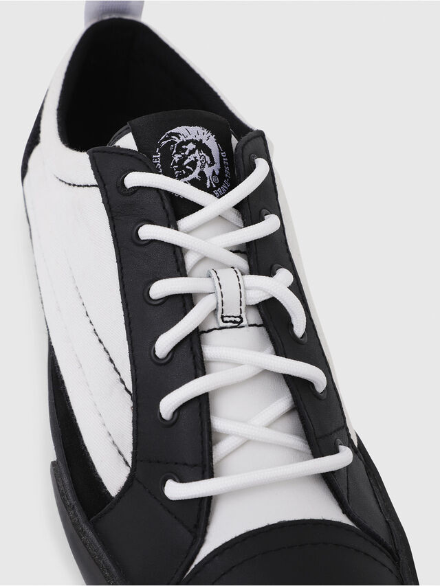 Diesel - D-VELOWS LOW PATCH, Nero/Bianco - Sneakers - Image 4
