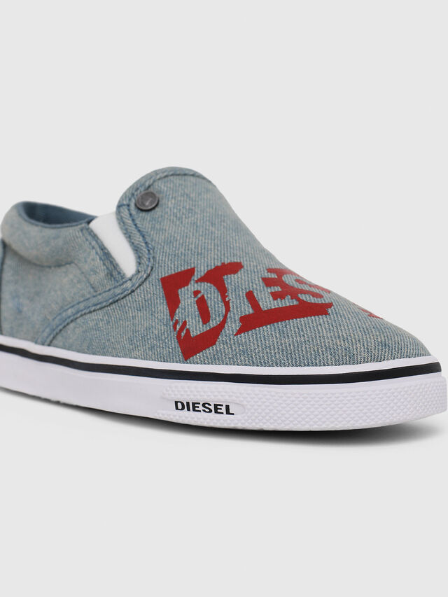 Diesel - SLIP ON 21 DENIM YO, Blu Jeans - Scarpe - Image 4