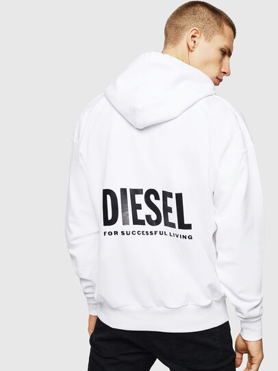 Diesel - LR-S-GIRK-HOOD-VIC, Bianco - Felpe - Image 2